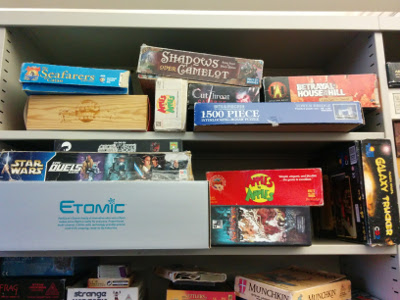 Some of our board gaming collection